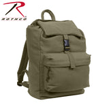 100% Cotton Canvas Daypack - Olive Drab