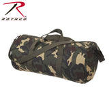 Rothco Canvas Shoulder Duffle Bag - 24 Inch - Woodland Camo