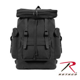 100% Heavyweight Cotton Canvas European Style Rucksack - Black