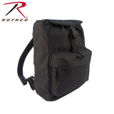 100% Cotton Canvas Daypack - Black