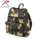 100% Cotton Canvas Daypack - Woodland Camo