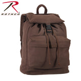 100% Cotton Canvas Daypack - Earth Brown