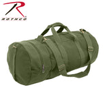Heavyweight Cotton Canvas Double-Ender Sports Bag - Olive Drab