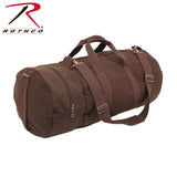 Heavyweight Cotton Canvas Double-Ender Sports Bag - Earth Brown