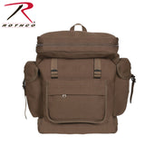 100% Heavyweight Cotton Canvas European Style Rucksack - Earth Brown