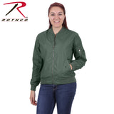 Womens MA-1 Flight Jacket - Sage Green