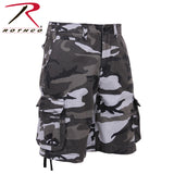 100% Cotton Vintage Camo Infantry Utility Shorts - City Camo