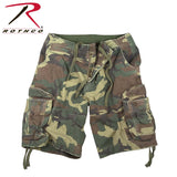 100% Cotton Vintage Camo Infantry Utility Shorts - Woodland Camo