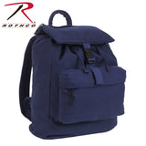 100% Cotton Canvas Daypack - Navy Blue