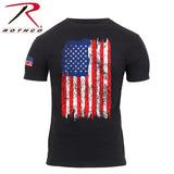 Rothco Distressed US Flag Athletic Fit T-Shirt - Red/White/Blue