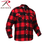 100% Cotton Fleece Lined Red Flannel Shirt
