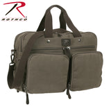 Cotton Canvas Briefcase Backpack - Front