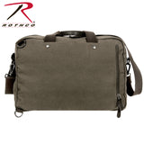 Cotton Canvas Briefcase Backpack - Rear View