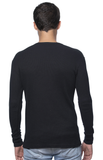 Unisex Heavyweight Thermal Shirt - Black Back View