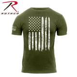 Rothco Distressed US Flag Athletic Fit T-Shirt - Olive Drab