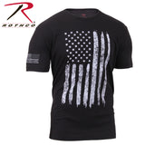 Rothco Distressed US Flag Athletic Fit T-Shirt - Black