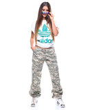 Womens Camo Vintage Paratrooper Fatigue Pants - ACU Digital Camo