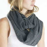 Unisex eco Triblend Thermal Infinity Scarf - Eco Tri Charcoal