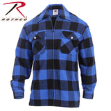100% Cotton Concealed Carry Flannel Shirt - Blue
