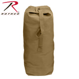 Heavyweight Top Load Canvas Duffle Bag - Coyote Brown