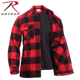 100% Cotton Concealed Carry Flannel Shirt - Red