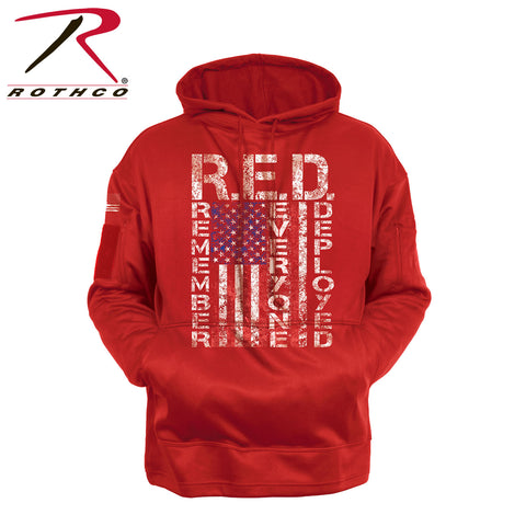 Concealed Carry R.E.D. (Remember Everyone Deployed) Hoodie - Front view