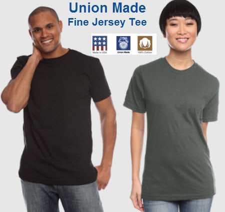 Unisex UNION MADE Recycled Jersey Tee - Main
