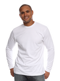 5054ORG Organic Cotton Tee Long Sleeve-White
