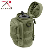 Water Bottle Survival Kit With MOLLE Compatible Pouch - Olive Drab