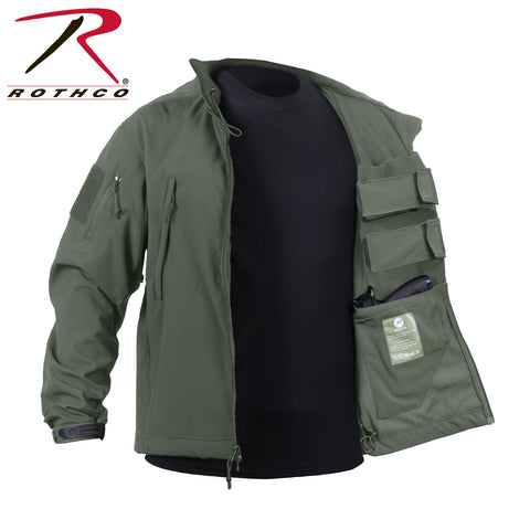 Concealed Carry Soft Shell Jacket - Olive Drab