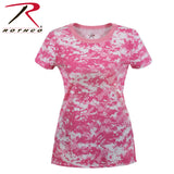 Women's Long Length Camo T-Shirt - Pink Camo