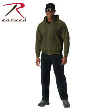Thermal Lined Hooded Sweatshirt