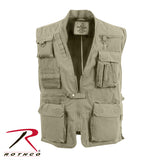 100% Cotton Deluxe Safari Outback Vest - Khaki