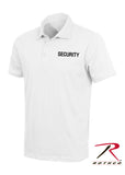 Rothco 100% Cotton Law Enforcement Printed Polo Shirts - White with Security Imprint