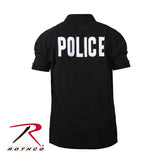 Rothco 100% Cotton Law Enforcement Printed Polo Shirts - Back view with Back Imprint