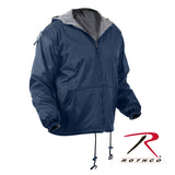 Rothco's Reversible Fleece Lined Jacket with Hood - Navy Blue
