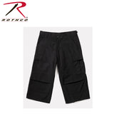 Rothco 6-Pocket BDU 3/4 Pants for Men - Black