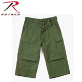 Rothco 6-Pocket BDU 3/4 Pants for Men - Olive Drab