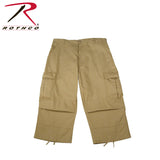 Rothco 6-Pocket BDU 3/4 Pants for Men - Khaki