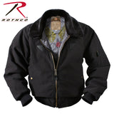 Rothco's Vintage B-15A Bomber Jacket with view of quilted lining with Strategic Air Command Print