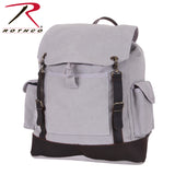 100% Cotton Canvas Vintage Expedition Rucksack - Grey