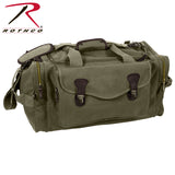 Rothco's Canvas Long Weekend Bag with leather accents - Olive Drab