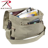 Rothco Vintage Canvas Outback Messenger Bag-Interior