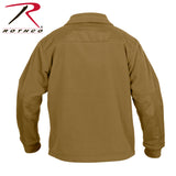 Rothco Spec Ops Tactical Fleece Jacket-Coyote Brown Back