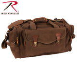 Rothco's Canvas Long Weekend Bag with leather accents - Brown