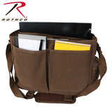 Vintage Canvas Pathfinder Laptop Bag With Leather Accents - Interior contents with Laptop