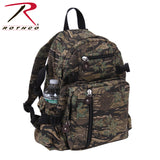 100% Cotton Canvas Vintage Compact Backpack - Smokey Branch Camo