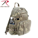 100% Cotton Canvas Vintage Compact Backpack - Woodland Camo