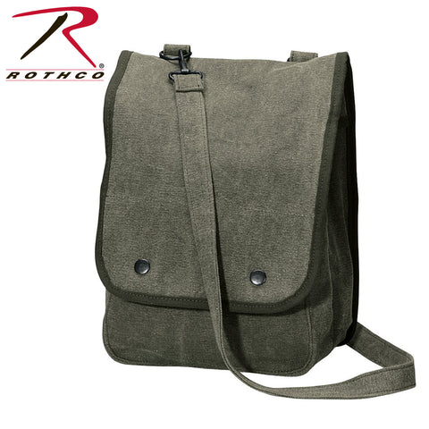 Rothco Vintage Canvas Map Case Shoulder Bag - Vintage Olive Drab
