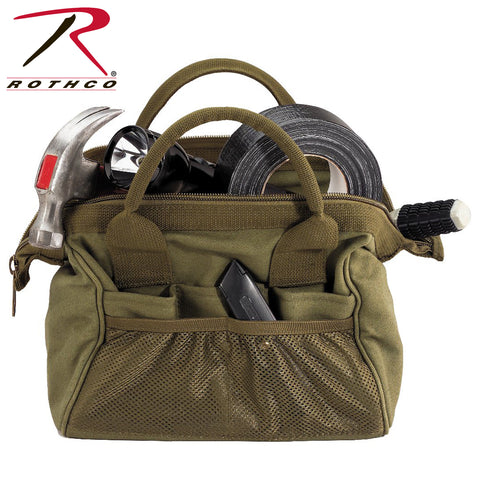 Rothco's Heavyweight Canvas Platoon Tool Bag - Olive Drab